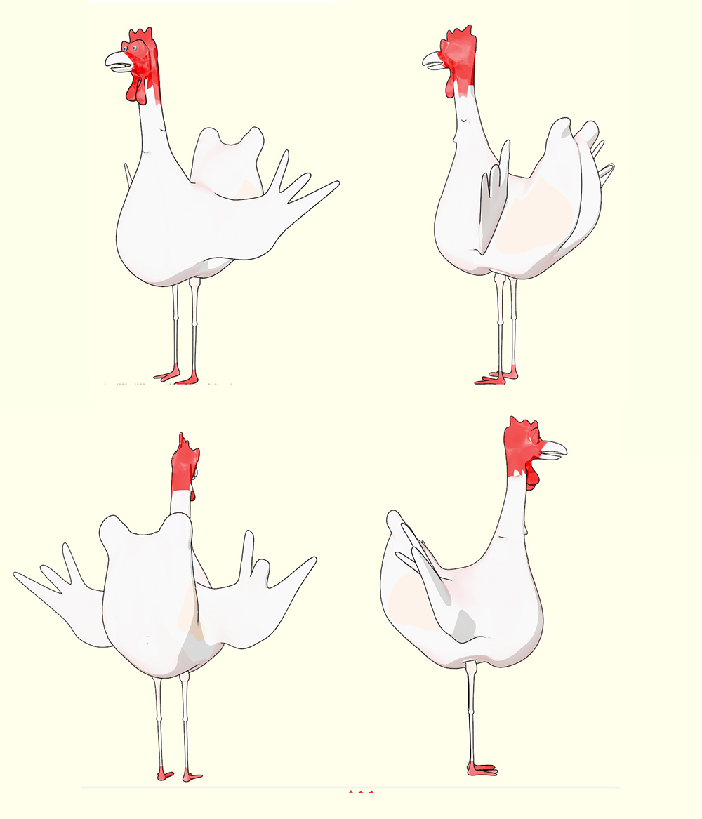 chicken 3d cartoon